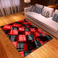 Modern Geometric Pattern 3D Carpet Large Size Living Room Bedroom Tea Table Rug and Carpet Rectangular Antiskid Floor Mat L0001