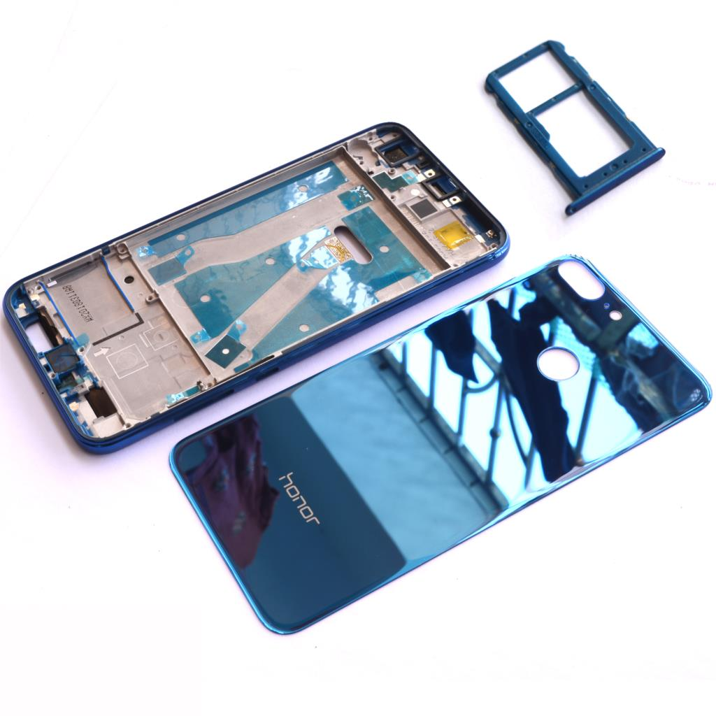 New Front Frame Glass Battery Door Back Cover Housing Case For Huawei Honor 9 Lite With SIM Card Tray