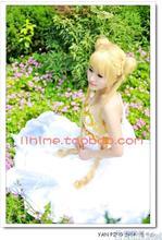 2016 Аниме Сейлор Мун Принцесса Серенити Tsukino Усаги Косплей Костюм Формальное Белое Платье