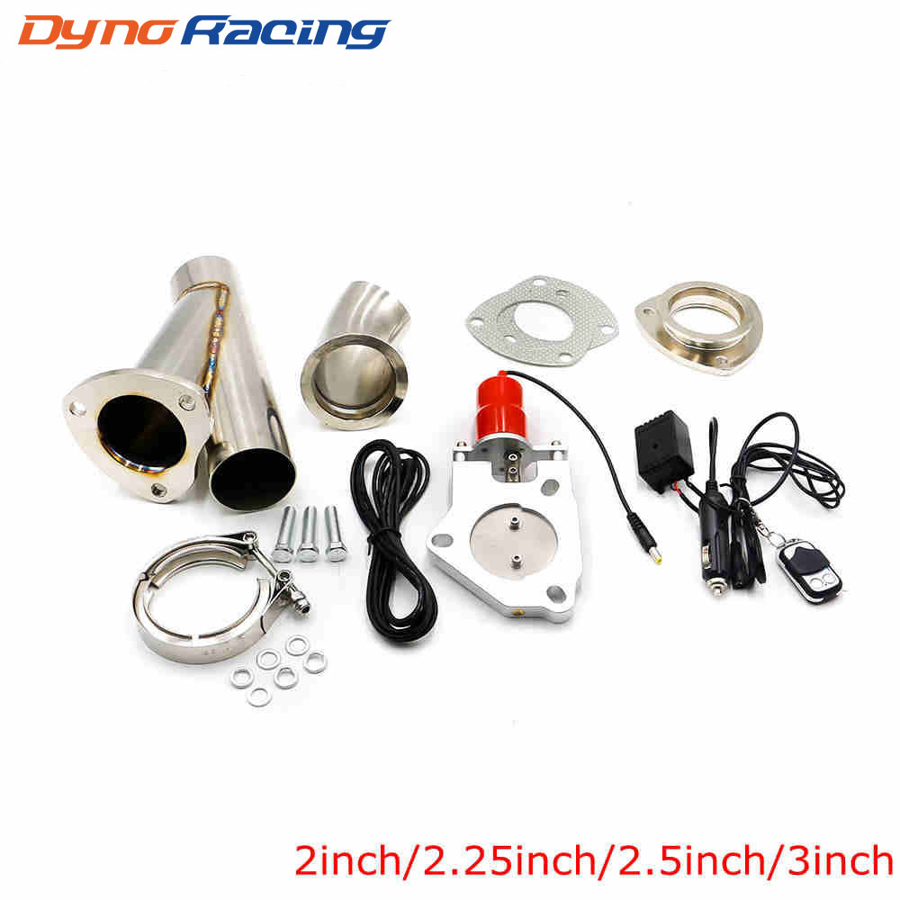 2 2 25 2 5 3 Inch Car Electric Stainless Exhaust Cutout Cut Out Dump Valve
