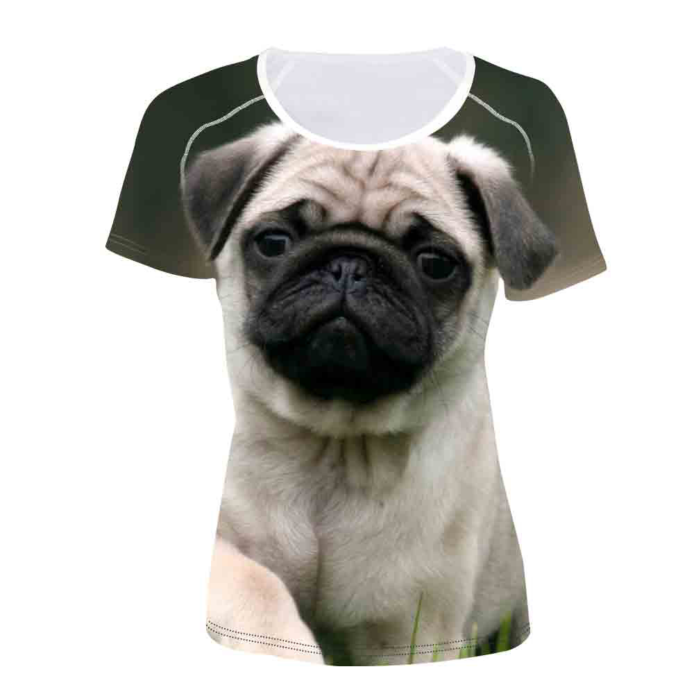 hight quality cotton french bulldog print t shirt women casual t-shirt for girls short sleeve fashion puppy dogs women tshirt