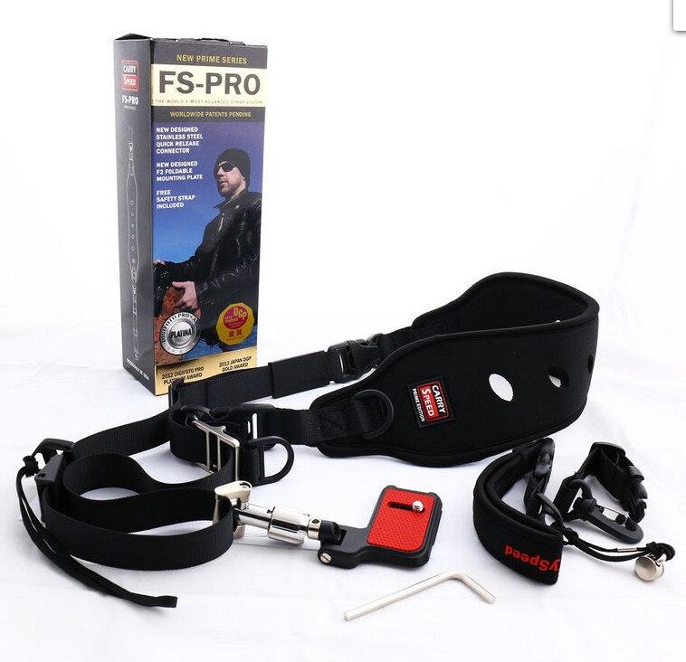 Transport professionnel Vitesse FS-PRO Caméra Sangle Rapide Rapide pour DSLR 1DX D4S 5D3 645Z D810 70D D5500 D750 6D 7D2 A99 7D2 D60