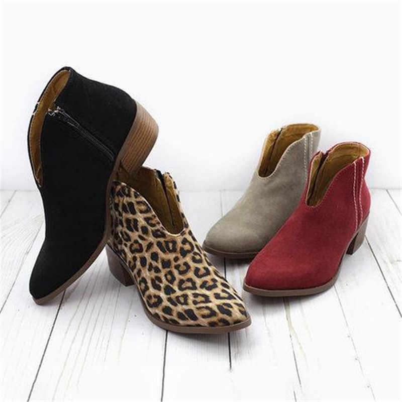 COOTELILI yarım çizmeler Kadın Topuklu rahat ayakkabılar Kadın Faux Süet Kadın Akın Için siyah çizmeler Chelsea Botas Mujer Kadın Ayakkabı