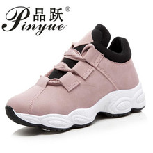 Size 35-40 2018 New Spring Women Comfortable Sneakers For Woman Suede Leather Casual Shoes Lady Vintage Platform Leisure Flats
