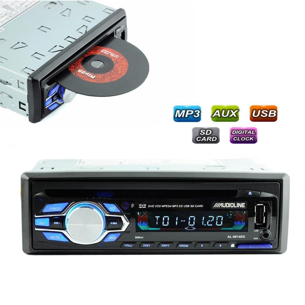 Car Audio Players Bluetooth Car In-Dash Bluetooth Car In-Dash Stereo Audio USB FM Aux Input Receiver MP3 Radio CD Player
