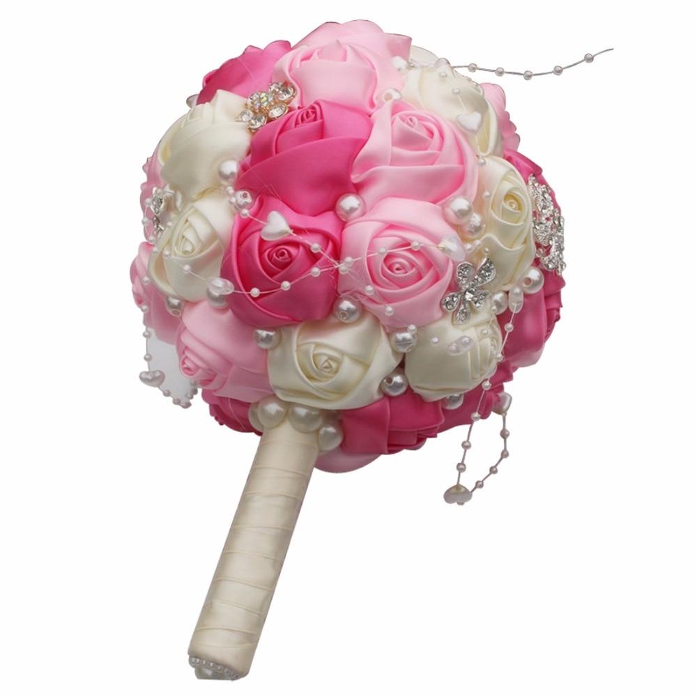 Round Ball Hand Bridal Bouquet Foam Bride Bridesmaid Hand Bridal