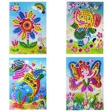 Горячая Распродажа, 12 цветов, 3D головоломка для детей, сделай сам, кристальная мозаика, наклейка для детей, детский сад, Обучающие художественные и ремесленные игрушки