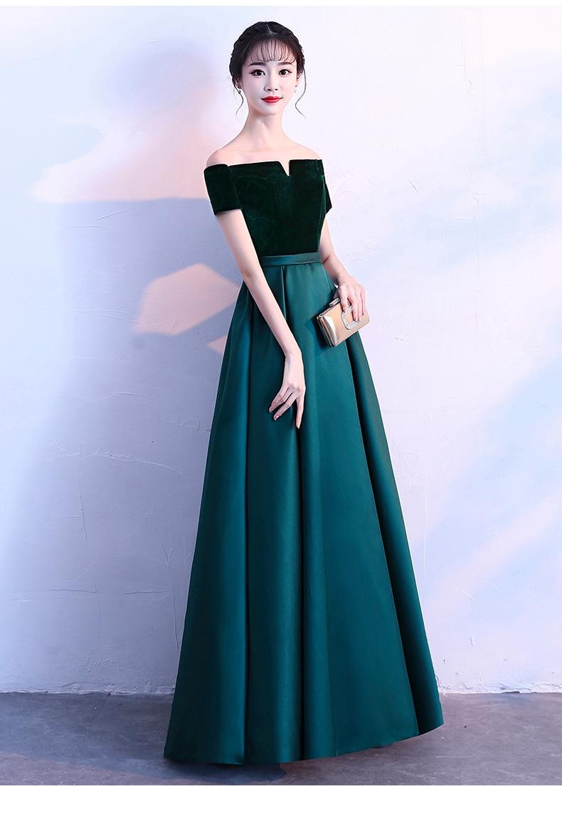 Robes de soirée en velours 2019 robe à lacets robe de soirée formelle robe de bal personnalisée robes robe de soirée - 2