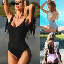 Sexy Lace Bikini Push Up Swimwear Women One Piece Swimsuit Girls Backless Bathing Suit Black One-Piece Monokini Body New
