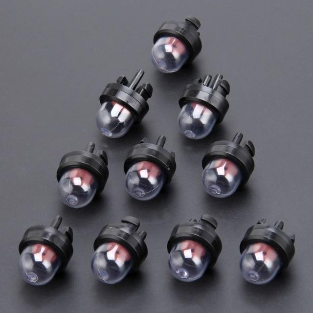 10 pcs 기화기 스냅 입문서 전구 연료 펌프 트리머 부품 sthil homeliter ryobi poulan fit 45cc 52cc 5200 5800 전기 톱