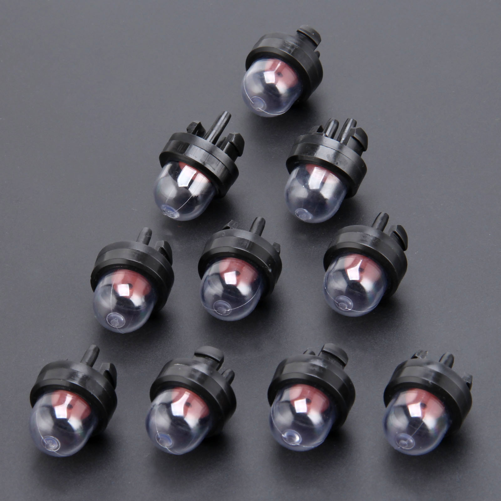 10Pcs Carburetor Snap In Primer Bulb Fuel Pump Trimmer Parts For STHIL Homeliter Ryobi Poulan Fit 45cc 52cc 5200 5800 Chainsaw