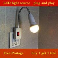 M 2 3 Holes Plug LED Light Clip On Ebook Reading DIY Lamp Booklight Book Reader