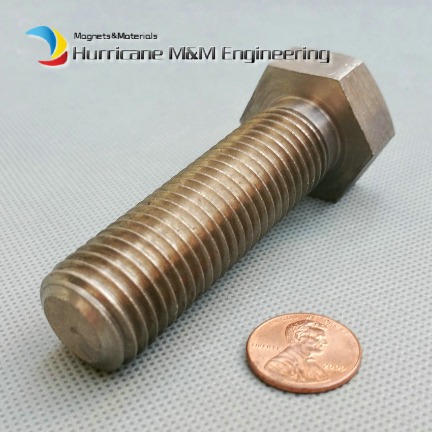 2 pcs M20 x70mm Ti Bolt Hex Titanium bolt original Ti color not polished Hexagon titanium screws Oil field Ti fastener цены