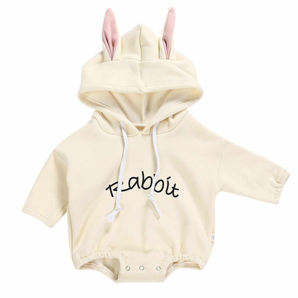 Todder chico ropa para bebé recién nacido niña niño conejo letra sudadera Tops ropa de primavera otoño Pullover body trajes de bebé