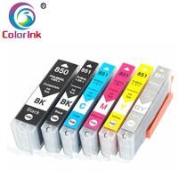 ColorInk 6 Pack PGI 850 CLI 851 851XL 850XL PGI CLI cartucho de tinta para impressora Canon iP7280 MG5480 MG6380|Cartuchos de tinta| |  -