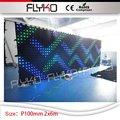 DMX funktion P100mm 2x6 mt Professionelle Kulisse Dekoration Vermietung led vorhang für bühnenhintergrund|Bühnen-Lichteffekt|Licht & Beleuchtung -