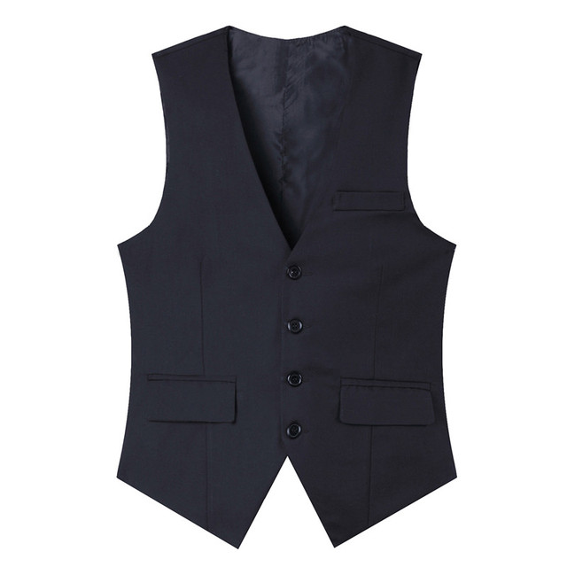 High quality 2016 new men suit vest slim fit solid men waistcoat chaleco hombre single breasted dress vests for men M-3XL CH953