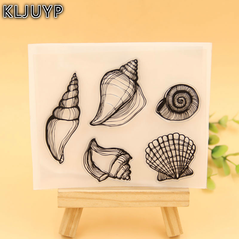 KLJUYP Conch Transparent Clear Silicone Stamp/Seal for DIY scrapbooking/photo album Decorative clear stamp sheets lovely elements transparent clear silicone stamp seal for diy scrapbooking photo album decorative clear stamp sheets