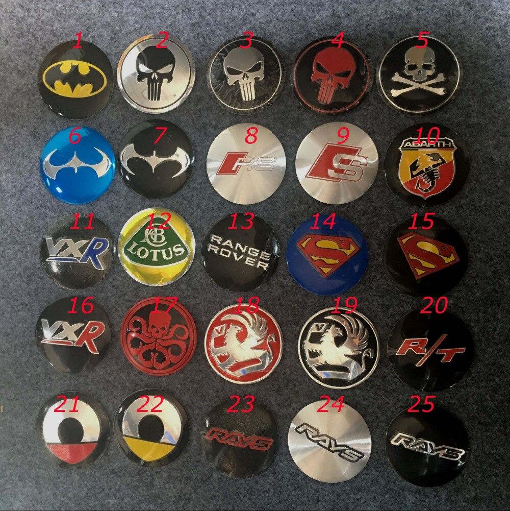 56mm Smart VXR punisher smart superman batman Rays Wheel Center Cover emblem Badge sticker for vauxhall