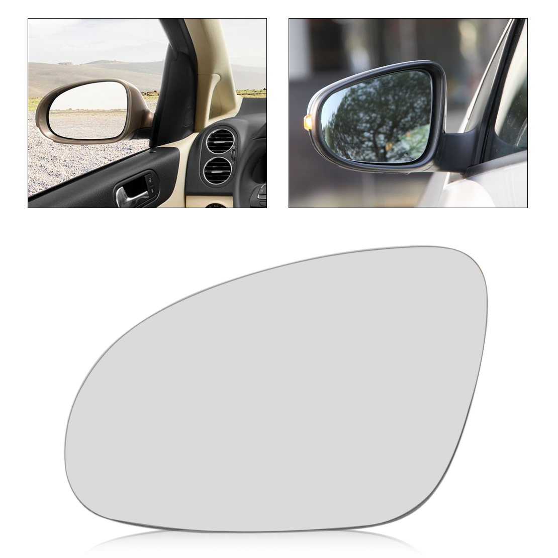 Citall 1pc New Car Left Side Wing Mirror Glass Heat W