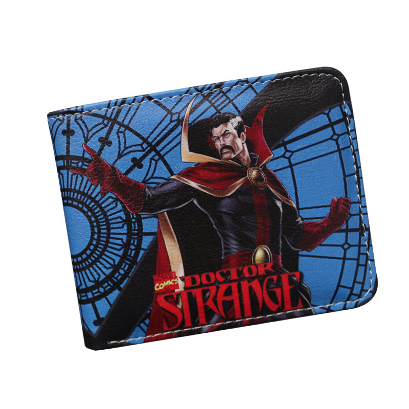 2018 New Doctor Strange Green Arrow Ghost Rider Mens Wallets Short Student Leather Mini Women Purse Design Dollar Price Boy Gift baellerry small mens wallets vintage dull polish short dollar price male cards purse mini leather men wallet carteira masculina