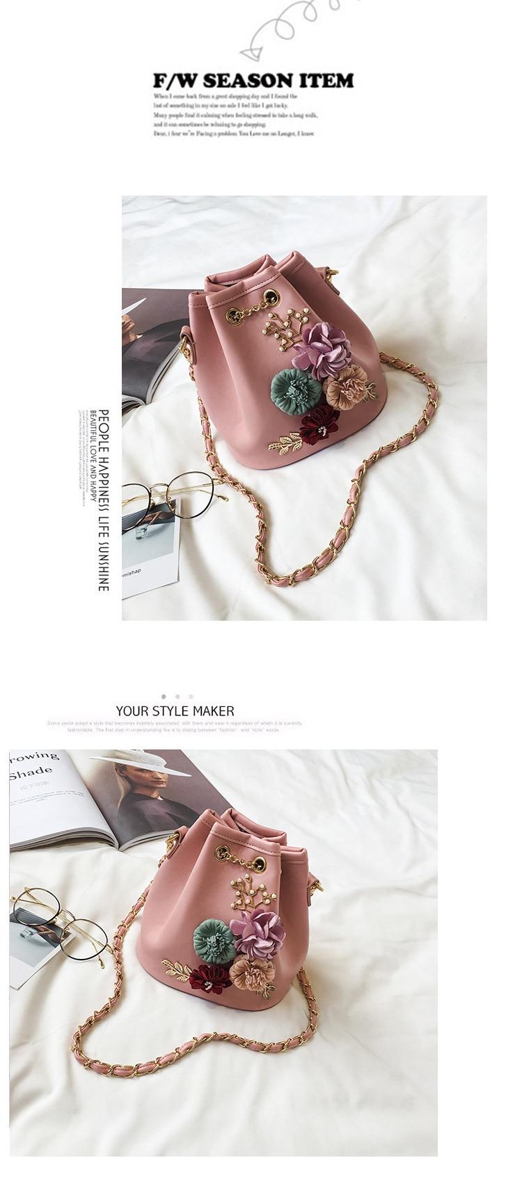 Nova moda coreana saco de balde cor