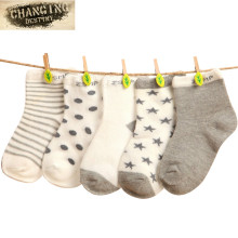 5 Pairs 0-3 Years Baby Newborn Cotton Socks Kids Children Floor Short Socks Girl and Boy Casual Socks