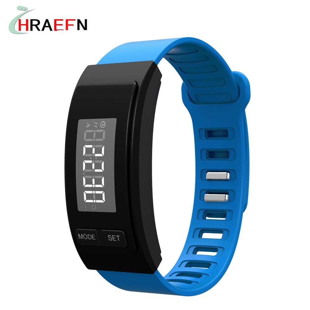 HRAEFN Senior gifts smart band Wowfit Passometer date time Calorie fitness tracker bracelet sport watch Pedometer