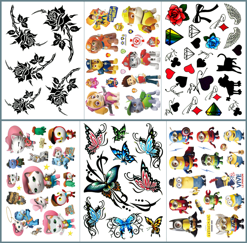 Nu-TATY Rose flower Temporary Tattoo Body Art Flash Tattoo Stickers 17*10cm Waterproof Fake Tatoo Car Styling Sticker
