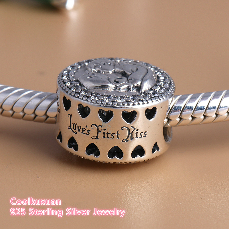 d71ca50d8 2018 New Snow White 80th Anniversary Charms Beads Fits Pandora bracelets  925 Sterling Silver Love's First Kiss Heart Beads-in Beads from Jewelry ...