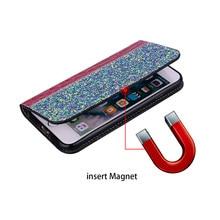 Zamykane skórzane błyszczące magnetyczne etui do Samsunga A6 i A7