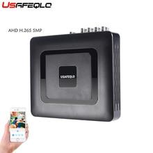 USAFEQLO Гибридный 4CH 8CH H.265 AHD5MP AHD DVR 6 в 1 XVI AHD CVI TVI CVBS безопасности DVR NVR для AHD-G AHD камера 5MP IP камера