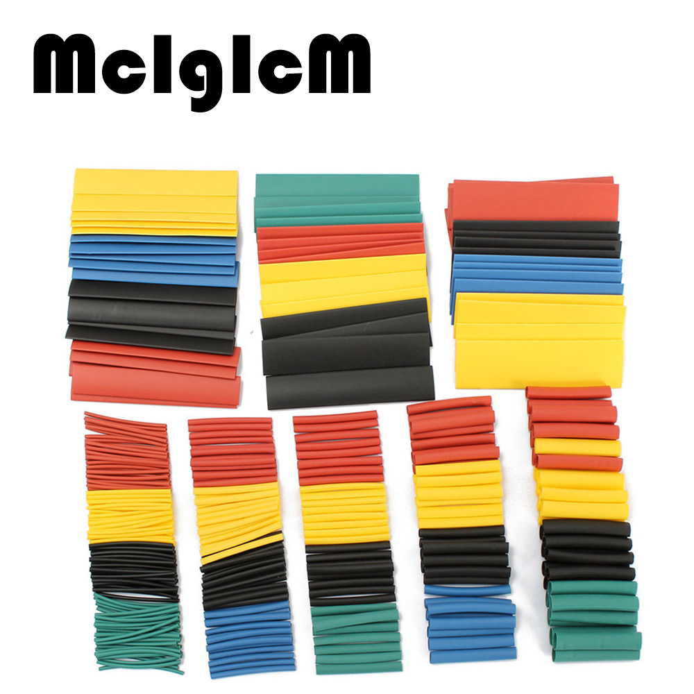 328pcs Heat Shrink Tube Polyolefin 2:1 Multi Color 8 Sizes Halogen-Free Tube Assortment Sleeving Wrap Tubes Free Shipping blue polyolefin 3 0mm x 200 meters heat shrink tubes 2 1