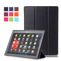 Tempered Glass Screen Protector PU Leather Stand Cover Case For Lenovo Tab2 Tab 2 A10 30