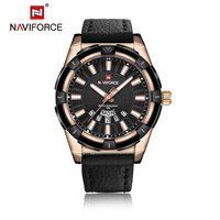 NAVIFORCE Top Brand Quartz Watches Luxury All Match Clothes PU Leather Man Quartz Hour Date Clock