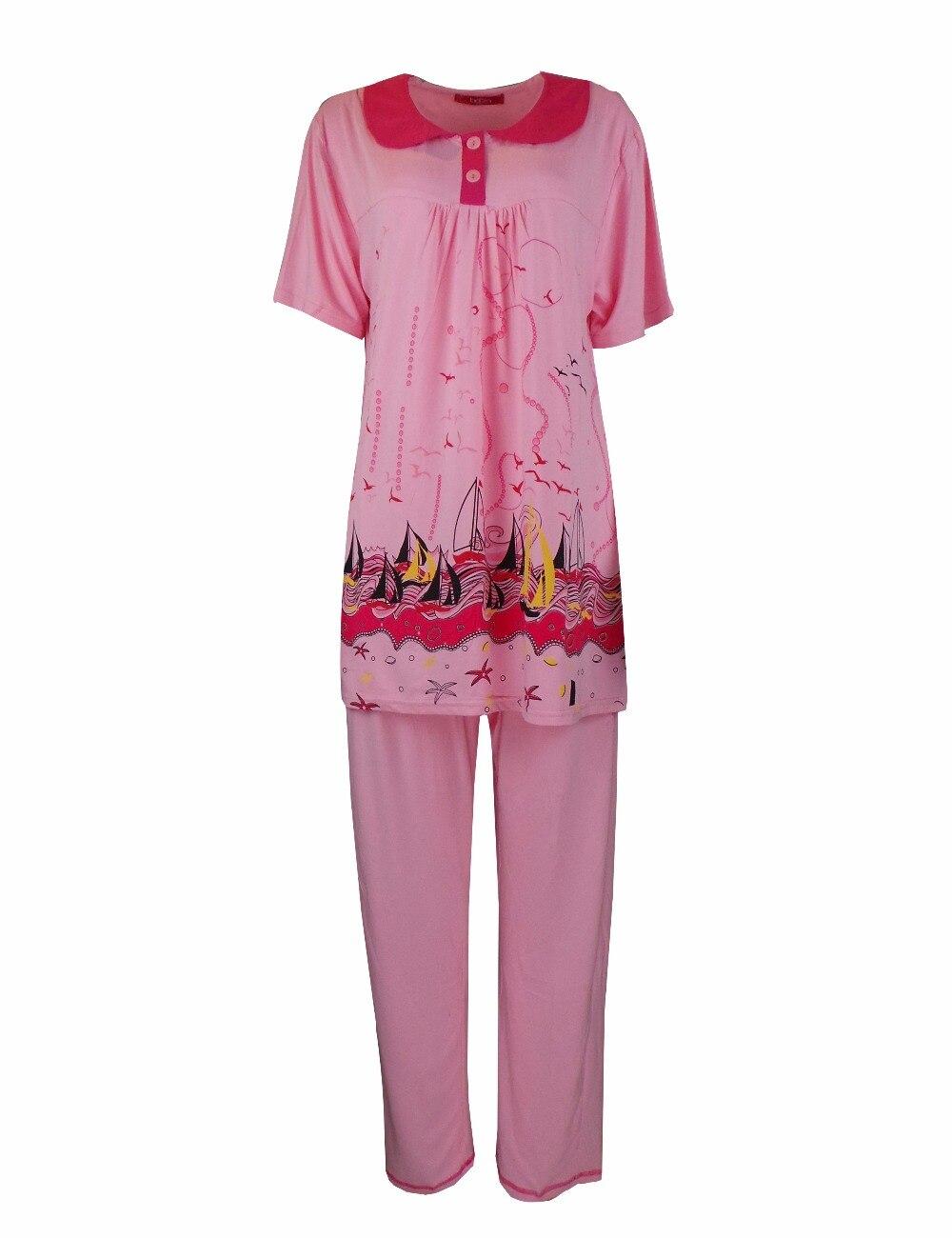 cotton floral ladies pink comforter comfortable sleepwear women s itm sleeved long pajamas set