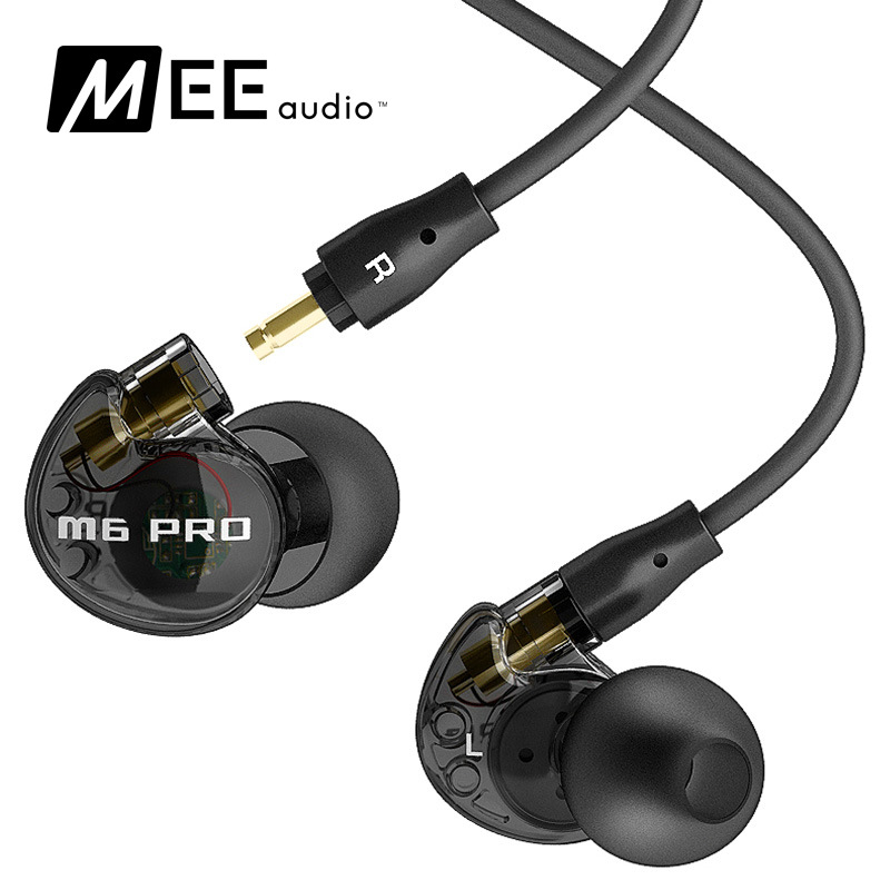 High quality wired Sports Running Earphone MEE Audio M6 PRO Hifi In-Ear Monitors with Detachable Cables also have se215  meelectronics mee audio m6 pro monitors bass hifi earphone noise isolating dj earphone in ear headset m6 black or white pk se215