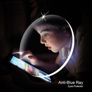 Image 4 - Lunettes optiques 1.61 Anti rayon bleu, 1 paire de lentilles Rx, assemblage gratuit, avec monture de lunettes