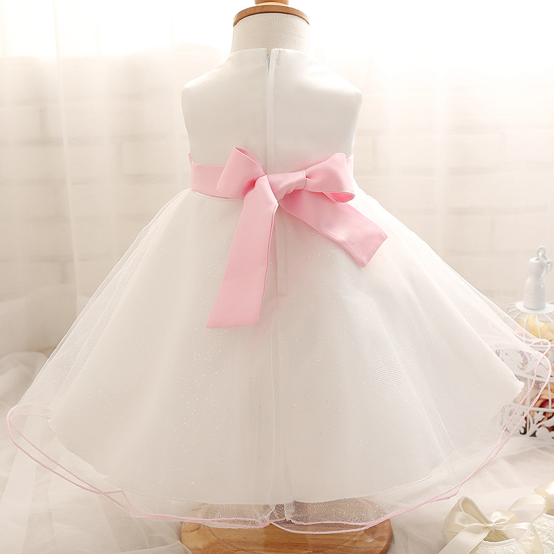 93f459db946d1 L Q SOONG brands 1 year girl baby birthday dress white beading bowknot pearl  baby girl summer dress toddler princess dress-in Dresses from Mother & Kids  on ...