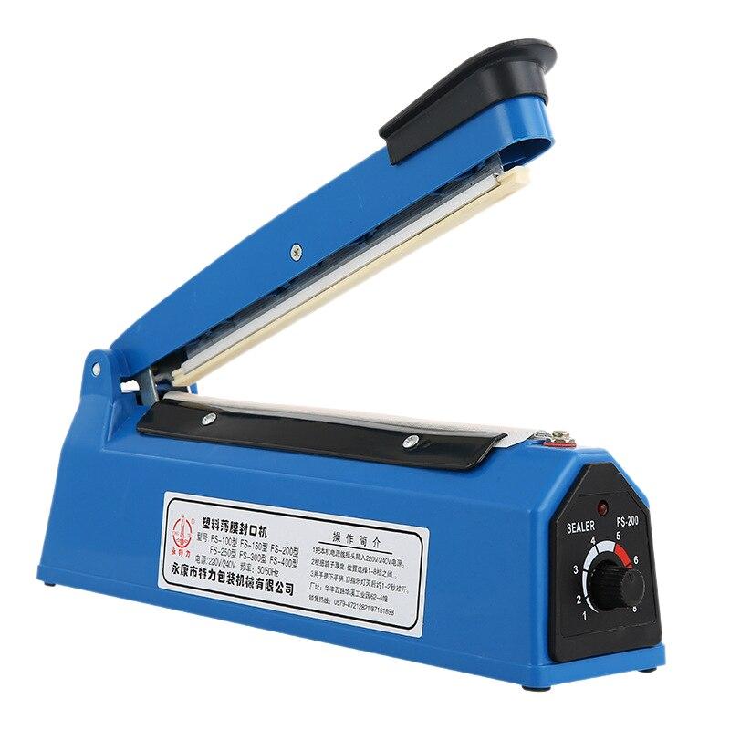220V 300W 8 Inch Impulse Sealer Heat Sealing Machine Kitchen Food Sealer Vacuum Bag Sealer Plastic Bag Packing Tools Us Plug|Vacuum Food Sealers| |  - title=