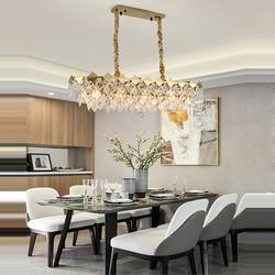 Led e14 żelazo postmodernistyczne kryształowy złoty żyrandol żyrandol LED lampa LED światło do jadalni Foyer
