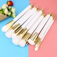 Best Deal New 15PCS White Make Up Foundation Eyebrow Eyeliner Eye Shadow Brush Blush Cosmetic Concealer