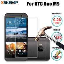 XSKEMP For HTC One M9 No Fingerprint Premium 0.26mm 2.5D Tempered Glass Protective Guard Film Explosion Proof Screen Protector