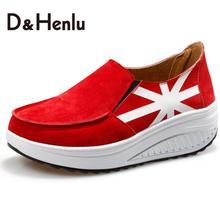 {D&H}Height Increasing  Fashion Women Casual Shoes  Spring/Autumn Women's Casual Platform Shoes Women's Vulcanize Shoes