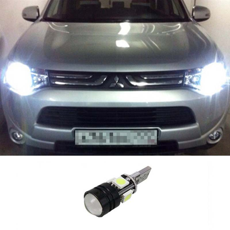 1pcs Car T10 LED 5050 4smd + 1.5W Wedge Light Bulb W5W For mitsubishi asx lancer 9 10 pajero ...