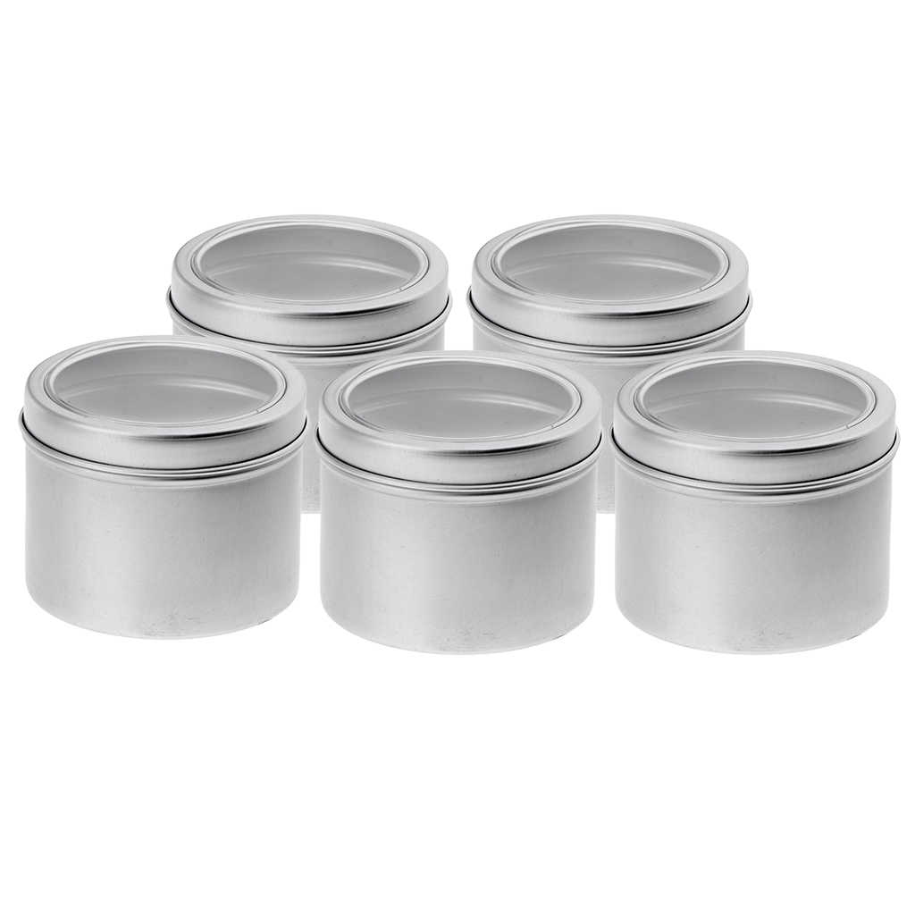 30 Pack Tin Cans Screw Top Round Metal Lip Balm Tins Containers Lids (100ml)