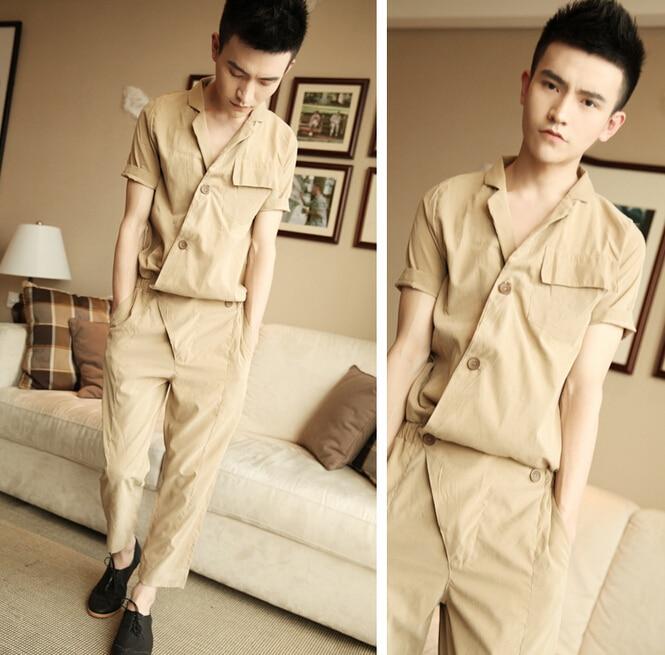 Summer Korean Style Harajuku Gothic Rompers For Men Loose Jumpsuit Harem Cargo Overalls Hip-hop Casual Bibs Pants 052704 Elegant And Graceful Overalls Men's Clothing