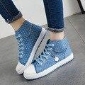 2017 nueva primavera zapatos de lona bajos femeninos para ayudar a los zapatos casuales zapatos planos de las niñas transpirable zapatos de los estudiantes