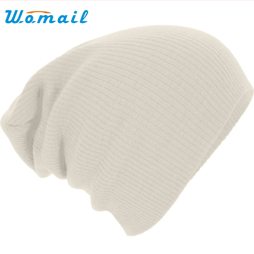 Womail Spring Fashion Men Knitted Winter Caps Casual Beanies for Women Solid Color Slouch Skullies Bonnet Unisex Cap Hat lady s skullies womail delicate pregnant mothers soft velvet cap maternal prevention wind hat w7