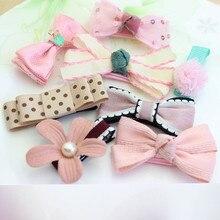 Cute Children 8Pcs/set Baby Girl Toddler Hair Clip Bow Flower Mini Barrettes Party Kids Hairpins